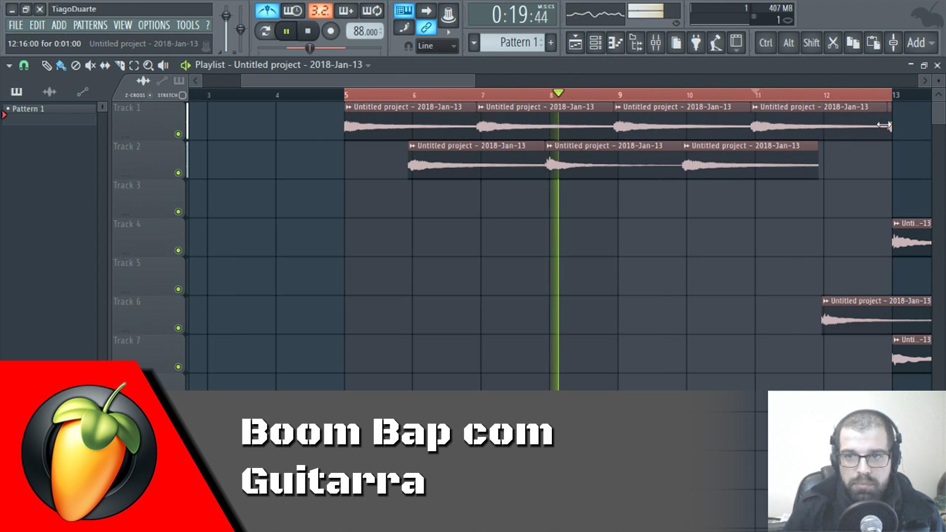 Beat Boom Bap com Guitarra