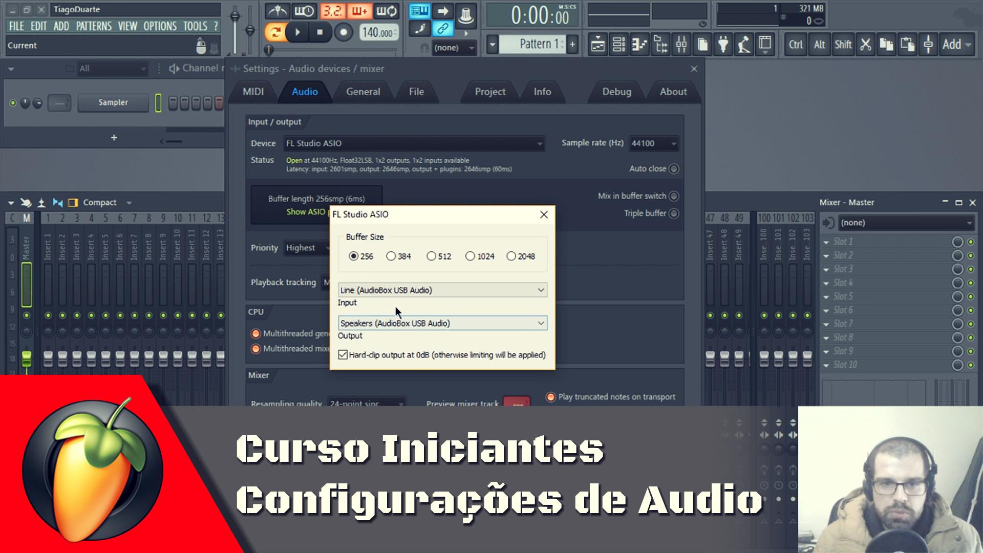 Configurações de Audio
